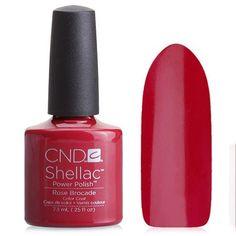 Shellac CND #90622 Rose Brocade - Темно-малиновый эмалевый
