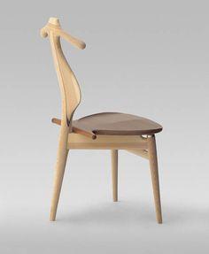 PP 250 Valet Chair by Hans Wegner - Modern Furniture Danish Furniture, Design Furniture, Chair Design, Cool Furniture, Modern Furniture, Clothes Valets, Stool Chair, Eames Chairs, Vintage Design