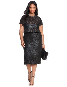 Plus Size Fashion - Studio Sequin Mesh Crop Top $98 PLUS 50% OFF w/ Promo Code SPLURGE | Earn Cashback when you shop at ELLOQUII.com! Sign up with DubLi for FREE at www.downrightdealz.net and GET PAID for all your online shopping!
