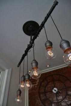 Ceiling Light Industrial Lighting Industrial by WestNinthVintage