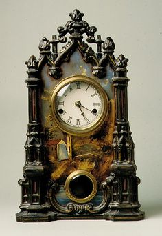 Mantel Clock - Date: patented 1849 Geography: Mid-Atlantic, New York, New York, United States Culture: American Medium: Cast iron