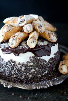 Cannoli Cake with Cinnamon Italian Meringue Buttercream