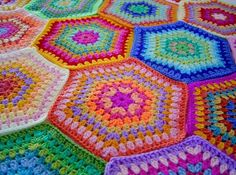 crochet granny geometrical blanket afghan throw