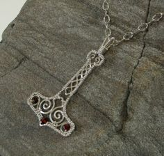 Handmade Mjolnir Pendant Wire Wrapped in by MystikCritterZ on Etsy, $32.00