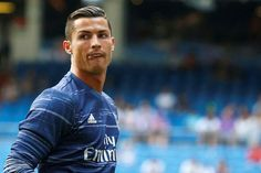 Real Madrid's Cristiano Ronaldo warms up before the match