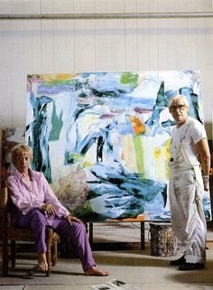 Elaine and Willem de Kooning 1982 | Jan Lombardi | Flickr