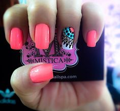 """ with ・・・ Cuando me preguntan por mis… Gorgeous Nails, Love Nails, How To Do Nails, Fun Nails, Pretty Nails, Nail Polish Designs, Nail Art Designs, Mandala Nails, Nails For Kids"