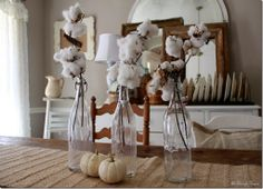 All Things Home..beautiful cotton on our farmtable