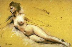 Henri Gervex - Femme nue couchée