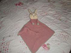 knit bunny baby blanket