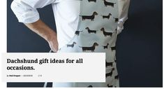 A collection of inspirational pins to help you find the right gift for the dachshund loving person in your life. Dachshund Gifts, Apron, Mad, Inspirational, Gift Ideas, Mens Tops, Life, Collection, Inspiration