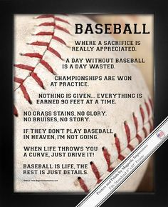 Buy Baseball Catcher Poster Print and more Baseball Catcher Gifts. Motivational Baseball Sayings will inspire players. Shop Baseball Catcher Gifts and find the perfect one for your catcher. Find great pricing and fast shipping! Baseball Tips, Baseball Crafts, Baseball Posters, Baseball Quotes, Better Baseball, Baseball Party, Baseball Games, Baseball Mom, Baseball Stuff