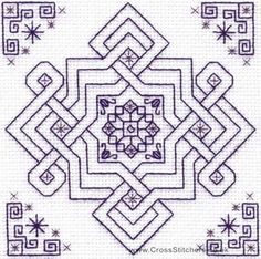 blackwork | Blackwork Kits - Olive's Knot - Holbein Embroideries Blackwork Kit
