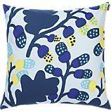 """Marimekko Pähkinäpuu Blue and Yellow 20"""" Pillow"""