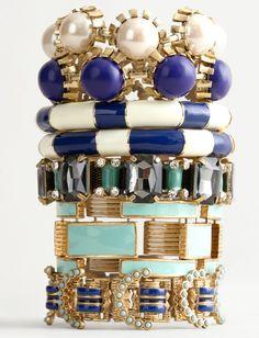 jcrew enamel bracelets.