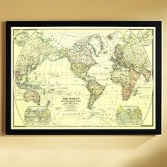 RandMcNally Mseries Map Framed X Walls Pinterest Map - Rand mcnally us wall map