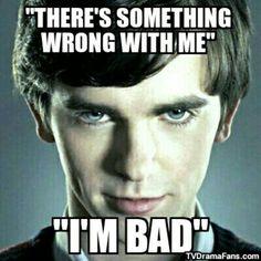 Bates Motel - Quote - Norman - Freddie Highmore - Bad - TV Drama Fans