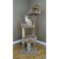 Cat Tree Tower Condo Furniture Pet Scratching Post Scratcher Play Bed Lotus  #NewCatCondos