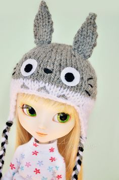 SD Pullip size: Totoro knitted hat