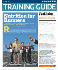 a good nutrition guide for runners