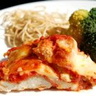 Yummy Chicken Parm recipe.  A great make ahead tip, take the raw chicken, put the breading on, then freeze a bunch of them.  EASY and YUMMY!!!!