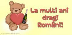 La multi ani dragi Români! Winnie The Pooh, Disney Characters, Fictional Characters, Winnie The Pooh Ears, Fantasy Characters, Pooh Bear