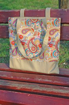 Eco Friendly Canvas Tote with Paisley Pattern, handmade, OOAK, 27 $ + free shipping :) https://etsy.me/2qzwoha #etsy #airyfairybags #bagsandpurses #beige #ecofriendly #canvastote #paisleypattern #ooak #functionalbag #shoulderbag #marketbag #workoutbag #dancebag #bookbag #totebag #summerbag #beachbag #cutebag #giftforher #buybag #cutebag #hippiestyles #bohogirl #becool #paisleyprint