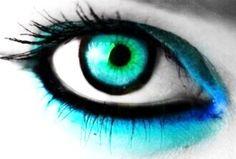 Blue & black contacts