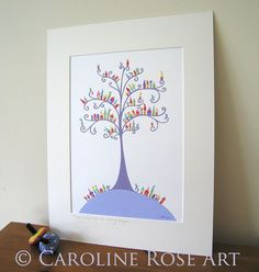 ORIGINAL A4 COLLAGE  They Lived Upon the Curling Boughs By Caroline Rose Art, £125.00