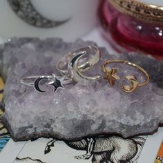 So many moon rings in stock - grab one now!⚡SHOPOCCULTA.CO.UK⚡  ☪ Tag customer photos #shopocculta ☪ #grunge #goth #pentagram #pentacle #quartz #crystal #moon #boho #bohemian #tibetan #witch #wiccan #pendant #witchcraft #silver #choker #jewellery #jewelry #gemstone #ouija #gothic #witchy #witchjewellery #choker #onlineshopping #turquoise #stars
