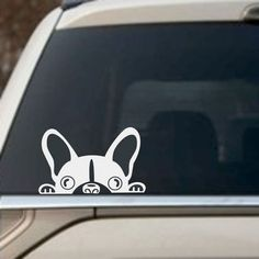 Amazon.com: Funny Car Sticker, Reflective Decal - Peeking Dog - White - 1 Pad - Different Size, Different Awesome Sticker: Automotive