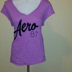 AEROSPOSTALE BASIC TEE Gorgeous plum color with being Aero 87 Aeropostale Tops Tees - Short Sleeve