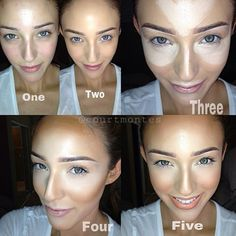 Love this contouring!! Again as I said before, very little product and colour on the face to begin with, but the end result is so effective.