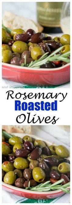 Rosemary Roasted Oli Rosemary Roasted Olives - a mix of your...  Rosemary Roasted Oli Rosemary Roasted Olives - a mix of your favorite green and black olives tossed with olive oil lemon and lots of rosemary. Perfect appetizer with your favorite wine. Recipe : http://ift.tt/1hGiZgA And @ItsNutella  http://ift.tt/2v8iUYW