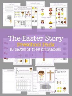 Help your little ones learn the story of Easter from the Bible with a FREE pack of printable Easter activities from Mary Martha Mama. Designed for preschool activities worksheet FREE The Easter Story PreK Pack # easter activities worksheet Catholic Easter, Easter Religious, Jesus Easter, Catholic Kids, Easter Activities For Preschool, Preschool Bible, Free Activities, Nursery Activities, Youth Activities