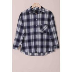 Casual Shirt Collar Checked Print Single-Breasted Long Sleeve Women's Blouse