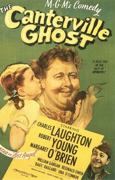 The Canterville Ghost Directed by Jules Dassin Norman Z. McLeod (uncredited) Produced by Arthur Field Written by Edwin Blum Oscar Wilde (story) Starring Charles Laughton Robert Young Margaret O'Brien Editing by Chester Schaeffer Release date(s) July 1944 Old Movie Posters, Classic Movie Posters, Movie Poster Art, Film Posters, Cinema Posters, Ghost Movies, Old Movies, Vintage Movies, 1940s Movies