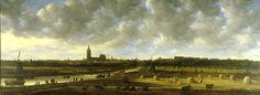 Jan van Goyen, Gezicht op 's-Gravenhage vanuit het Zuid Oosten, 1650. Den Haag