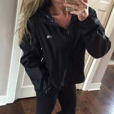 North Face Windbreaker Jacket with Hood North Face Windbreaker Jacket with Hood. Black Size M. EUC, no signs of wear.    • No trades & No off Posh sales. Please use the offer button and don't forget to bundle for a discount! Happy shopping! • North Face Jackets & Coats Utility Jackets