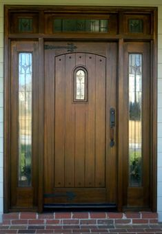 wooden front door | Wood Front Door Refinishing Business - Cary, Raleigh, Holly Springs