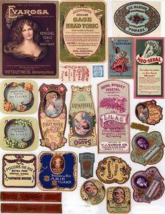 Imprimolandia: Vintage perfume and beauty labels