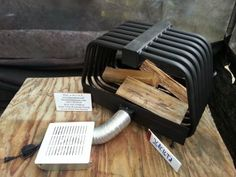 Introducing the Rib Cage for your double sided fireplace delight! This particular Rib Cage is our fireplace Furnace Grate Heater Blow Appropriate Technology, Fireplace Heater, Double Sided Fireplace, Rocket Stoves, Metal Projects, Rib Cage, Wood And Metal, Hearth, Wood Stoves