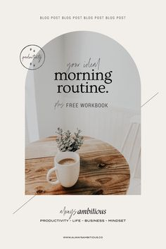 are morning routines worth the hype? find out in our blog post why they are important and how to set yourself up for success. Also download a free workbook to help you design your day. Design Ios, Layout Design, Branding Design, Layout Inspiration, Graphic Design Inspiration, Material Design, Design Thinking, Design Innovation, Web Mobile