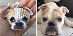 Seashell Art, Seashell Crafts, Beach Crafts, Fun Crafts, Seashell Christmas Ornaments, Dog Ornaments, How To Make Ornaments, Shell Animals, Seashell Projects