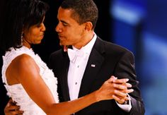 Barack & Michelle <3    I want someone to look at me the way he looks at her.