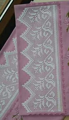 This Pin was discovered by Ays Annie's Crochet, Crochet Dollies, Crochet Lace Edging, Crochet Borders, Crochet Purses, Love Crochet, Filet Crochet, Crochet Patterns Filet, Sweater Knitting Patterns