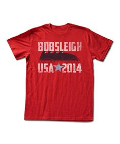 Red 'Bobsleigh USA 2014' Tee - Adult #zulily #zulilyfinds
