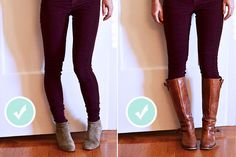 When to wear ankle boots vs. knee high boots