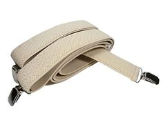 120 kr. (Findes i 12 forskellige farver) Men's Extra Long XXL fully adjustable Clip on Braces / Suspenders, 3.5cm - Light Cream Olata http://www.amazon.co.uk/dp/B00M0FYJDM/ref=cm_sw_r_pi_dp_cLB4wb1P590ZW