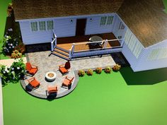 Beautiful rendering of a small deck 3 D, Michigan, Deck, Layout, Patio, Projects, Beautiful, Log Projects, Page Layout